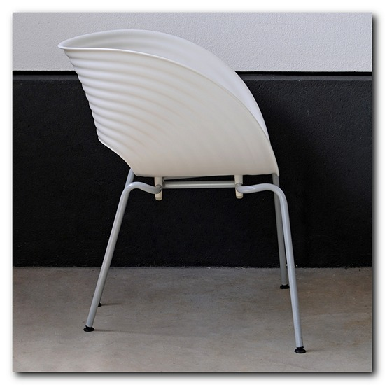 vitra stuhl tom vac chair designer ron arad wei stapelbar ebay. Black Bedroom Furniture Sets. Home Design Ideas